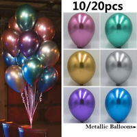 "20Pcs 12"" Metallic Balloons Latex Pearl Ballon Wedding Birthday Party Supplies"