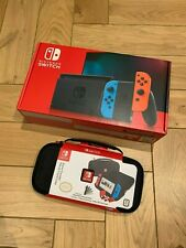 BNIB Nintendo Switch Console Neon Blue/Red - Improved battery Deluxe Travel Case