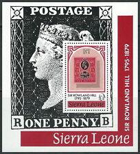 Sierra Leone - 100. Todestag von Rowland Hill Block 3 postfrisch 1979 Mi. 589