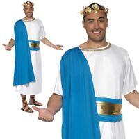 Römer Kostüm Senatorkostüm römische Kostüme Senator Rom blau-weiß M 48//50