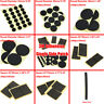1pk Black Sponge Adhesive Single-Side Square Round Patch Pad Circle Foam Tape