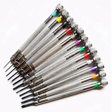0.6Mm-2.0Mm 13Pcs New Watchmakers Screwdrivers Set Watch Glasses Flat Blade As