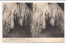 carte postale stéreo , les grottes de bétharram ,le palais des fées