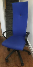 Fritz Hansen High Back Desk Chair Model 223H Blue Fabric finish