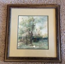 LISTED ARTIST BILLY PRICE CARROLL 1920-2011 ORIGINAL WATERCOLOR CABIN IN WOODS