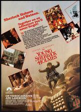 YOUNG SHERLOCK HOLMES__Original 1986 print AD / movie promo__STEVEN SPIELBERG