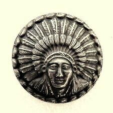Indian chief head Sterling Silver Belt Conchos
