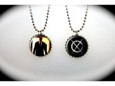Slender Man Marble Hornets Internet Ghost Story - 2 sided necklace