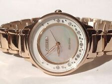Citizen Women's Eco-drive Em0382-86d Circle of Time Diamond Accents 30mm Watch