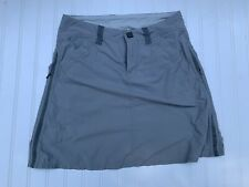 MOUNTAIN HARDWARE - Women's Gray Lightweight Chino Nylon Skirt - SIZE 4 Hiking