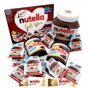 Love Nutella Chocolate Gift Box Selection Hamper - Nutella Lovers - 15 Items