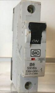 MK SENTRY 5906S B6 6A 60898 MCB USED