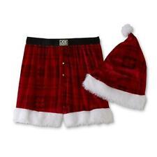 Joe Boxer Men's Christmas Boxer Shorts & Hat Size M