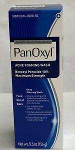 Panoxyl Acne Foaming Wash 10% Benzoyl Peroxide - 5.5 oz