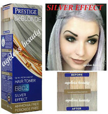 HAIR GREY GRAY SILVER TONER DYE BLOND BLEACHED LIGHT 100ml NO AMMONIA & PEROXIDE