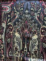 """NEW Etro collection WOOL SILK scarf shawl 16.5"""" x 52"""" (42cm x 132cm)"""