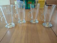 2 O'MARA'S IRISH COUNTRY CREAM CLEAR GLASSES TALL