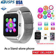 Unlocked Phone Watch Bluetooth Smart Watch Bracelet Steel Band for Android Phone