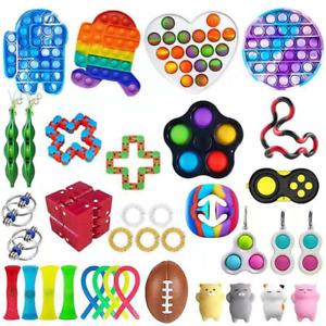 36 Pop Push It Bubble Sensory Fidget Kids Toy Special Needs Stress Relief Autism