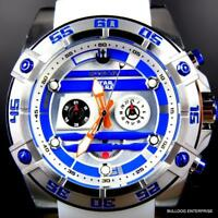 Invicta R2D2 Star Wars Chronograph Limited Edition White 52mm Silicone Watch New