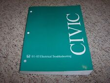 2001-2003 Honda Civic Electrical Wiring Diagram Manual 2002 DX HX CVT LX EX