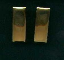 Pair of 2nd LT Lieutenant Rank Insignia gold bars USA Made