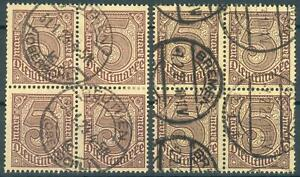DR-Dienst, 3 x 4-er Blöcke Mi.-Nr.31+ 2x33 2 Farben, pracht, Michel  52 Euro