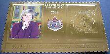Togo 500 Jahre Thurn und Taxis Fürstin Gloria 2012 Gold