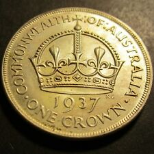 1937 Australia Crown ** DOT IN FIELD VARIETY ** #PW1807-11