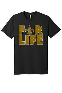 New Orleans Saints 4 Life logo shirt  S - 5XL!!! Fast Ship!