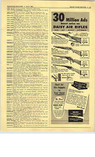 1952 PAPER AD Daisy Air Rifle Red Ryder Pump Repeater Dominion Appliances Fan