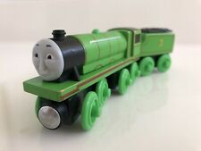 Thomas & Friends Wooden Railway Train Tank Engine - Henry w/ Tender - 2012 EUC