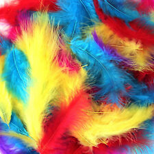 200 x Fluffy Marabou Feathers 12-15cm Card Making Crafts Embellishments Trimming