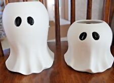 Yankee Candle GHOST Tea Light Holders Large and Small ~~~Brand New~~~ Rare!!!!!!