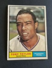 ORIGINAL1961 TOPPS PHILADELPHIA PHILLIES BASEBALL CARD #411 TONY TAYLOR NR.MT