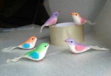5 pcs  Birds Artificial Crafts Handmade foam for Home decor Free Shipping