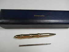 Rare Tiffany & Co Bamboo Ink Pen 14K Gold Writes! Vintage Exc. Cond. Orig. Box