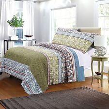 Oversized Mattress Quilt Set King Size 3pc Pillow Sham Cotton Bedding Spread New
