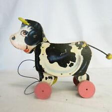 Vintage Fisher Price Toys Moo-oo-Cow Pull Toy 1958 #155