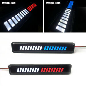 Car Front Grille Badge LED Light Illuminated Decal Sticker Decor Lamp Universal