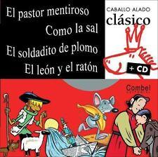 El pastor mentiroso, Como la sal, El soldadito de plomo, El leon y el-ExLibrary
