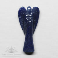 LARGE Hand Carved Blue Quartz Crystal Angel 4.5cm 1.8inch High Casa Brazil