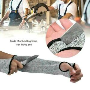 Outdoor Work Safety Arm Guard Sleeve Anti-cutting Protective C2X6 L7W8