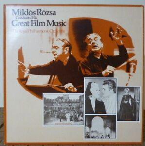 Miklós Rózsa – Conducts His Great Film Music - U.S 1975 - NEAR MINT Vinyl LP