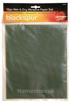 Blackspur Assorted Wet and Dry Abrasive Paper Set 10pk