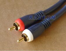 NEW 6 ft Steren 2-RCA premium stereo gold plated audio cable