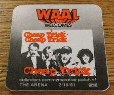 Vintage & Genuine Waal Cheap Trick 2/19/81 The Arena Otto Backstage Pass