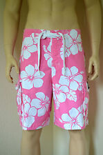 "Abercrombie & Fitch Redfield montaña Swim Shorts Rosa Floral S 30"" £ 64"