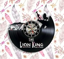 Lion king wall art Vinyl Wall Clock 12 Inches Decor Gift For Men And Women