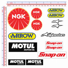 Adesivi sponsor sticker moto alpinestar arrow motul NGK snap-on print pvc 15 pz.
